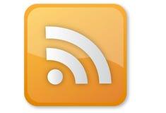 Ícone de RSS Imagem de Stock