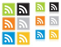 Ícone de RSS Imagens de Stock Royalty Free