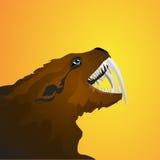 Ícone de Sabretooth Imagens de Stock Royalty Free