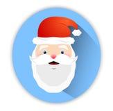 Ícone de Santa Claus no fundo azul Imagem de Stock Royalty Free