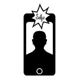 Ícone de Selfie Foto de Stock