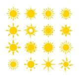 Ícone de Sun Foto de Stock Royalty Free
