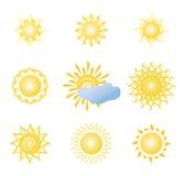 Ícone de Sun ilustração do vetor