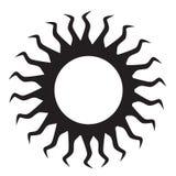 Ícone de Sun Imagem de Stock