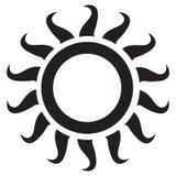 Ícone de Sun Imagem de Stock Royalty Free