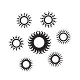 Ícone de Sun Imagens de Stock