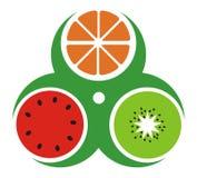 Ícone de três frutos Foto de Stock
