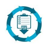 Ícone de transferência de dados, Imagens de Stock Royalty Free