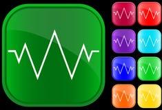Ícone de um electrocardiograma Fotografia de Stock Royalty Free