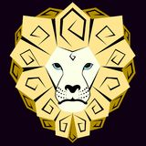 Ícone de um leão amarelo ilustração royalty free