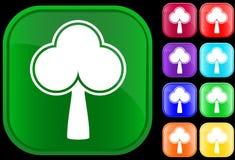 Ícone de uma árvore Imagens de Stock