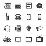 Ícone de uma comunicação Imagens de Stock Royalty Free