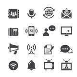 Ícone de uma comunicação da Web Fotos de Stock