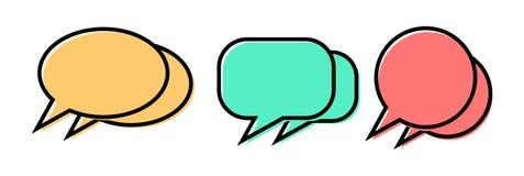 Ícone de uma comunicação Discurso do balão Projeto liso Ilustração do vetor ilustração royalty free