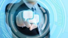 Ícone de uma comunicação do toque do homem Fotos de Stock