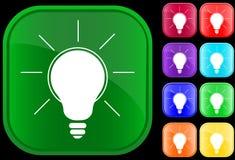 Ícone de uma lâmpada Imagem de Stock