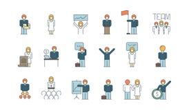 Ícone de unidade de negócio Equipe que trabalha junto o vetor coordenado da gestão de processo de negócios das associações dos po ilustração royalty free