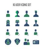 Ícone de 20 usuários Imagem de Stock Royalty Free