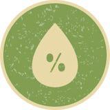 Ícone de Vetor da umidade ilustração stock