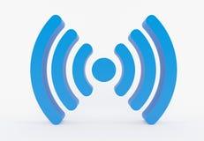 Ícone de WiFi - symbo Fotos de Stock Royalty Free