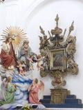 Ícone: Deus resurrected e Madonna com criança Imagem de Stock Royalty Free