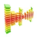 Ícone dimensional do emblema dos dados da estatística de amostra Imagens de Stock Royalty Free