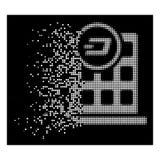 Ícone dissolvido brilhante de Dot Halftone Dash Corporation Building ilustração do vetor