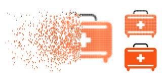 Ícone dissolvido de Dot Halftone First Aid Toolkit ilustração royalty free