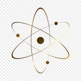 Ícone do átomo ilustração stock