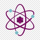 Ícone do átomo, estilo liso ilustração royalty free