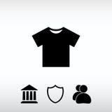 Ícone do ícone do Tshirt, ilustração do vetor Estilo liso do projeto Imagem de Stock Royalty Free