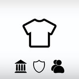 Ícone do ícone do Tshirt, ilustração do vetor Estilo liso do projeto Imagem de Stock