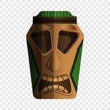 Ícone do ídolo do Maya, estilo dos desenhos animados ilustração do vetor