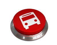 Ícone do ônibus Fotos de Stock Royalty Free