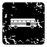 Ícone do ônibus, estilo do grunge ilustração royalty free