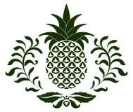 Ícone do abacaxi Imagens de Stock