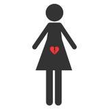 Ícone do aborto Pro vida do sinal e pro escolha Imagens de Stock