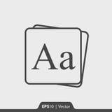 Ícone do alfabeto para a Web e o móbil Fotografia de Stock