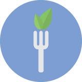 Ícone do alimento do vegetariano Imagens de Stock Royalty Free