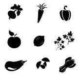 Ícone do alimento, vetor do símbolo do alimento Fotografia de Stock