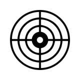 Ícone do alvo/ícone do dardo ilustração do vetor