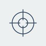 Ícone do alvo Símbolo do alvo Crosshair Ilustração do vetor Fotografia de Stock