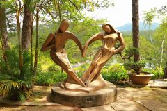 Ícone do amor em Dalat, Vietname fotografia de stock