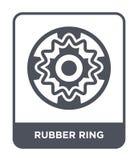 ícone do anel de borracha no estilo na moda do projeto ícone do anel de borracha isolado no fundo branco ícone do vetor do anel d ilustração stock