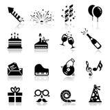 Ícone do aniversário Fotos de Stock