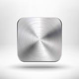 Ícone do app da tecnologia com textura do metal para o ui foto de stock