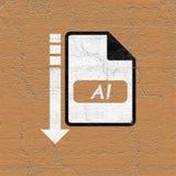 Ícone do arquivo de computador ilustração royalty free