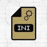 Ícone do arquivo do ini da configuração de computador ilustração royalty free