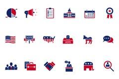 Ícone do assunto da eleição Fotos de Stock Royalty Free