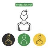 Ícone do avatar do jogador de futebol Fotografia de Stock Royalty Free